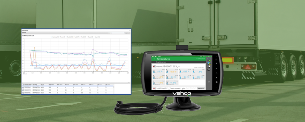 Secure an unbroken cold chain by monitoring temperature sensitive goods with Vehco Asset Pro